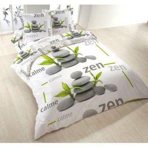 parure de lit 4 pieces zen flair achat vente parure de. Black Bedroom Furniture Sets. Home Design Ideas