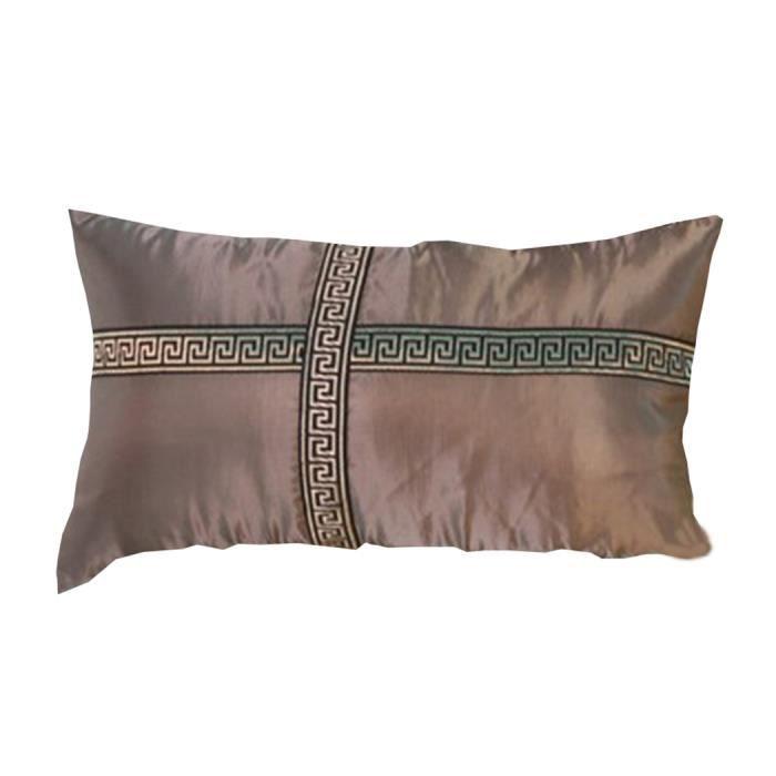 go4u taie oreille maison canap d cor housse de coussin croix d 39 argent 50 50cm coton linen. Black Bedroom Furniture Sets. Home Design Ideas