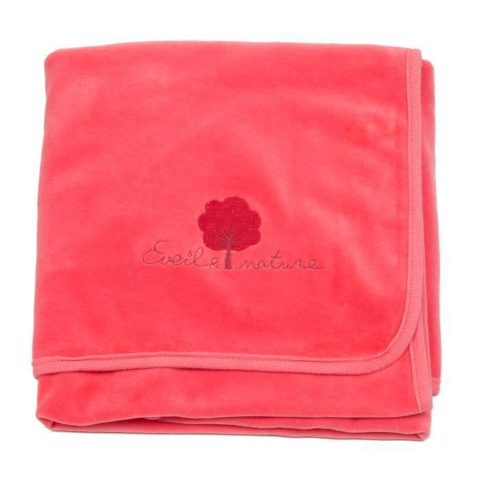 petite couverture b b plaid 75x100 cm coton bio rose achat vente couverture plaid b b. Black Bedroom Furniture Sets. Home Design Ideas