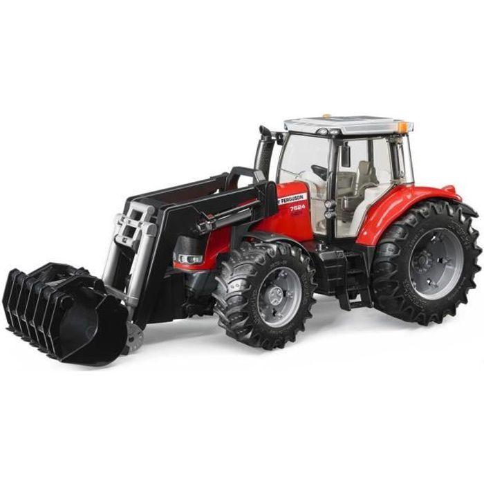 Bruder 3047 tracteur massey ferguson 7600 avec fourche achat vente voiture camion - Tracteur avec fourche ...