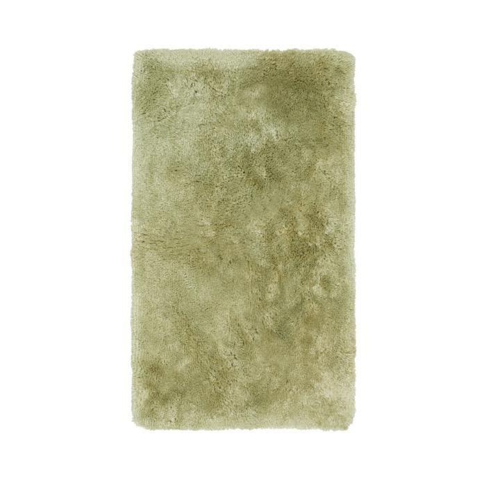 Deladeco tapis shaggy pour salle de bain vert lavable en - Tapis pour salle de bain ...