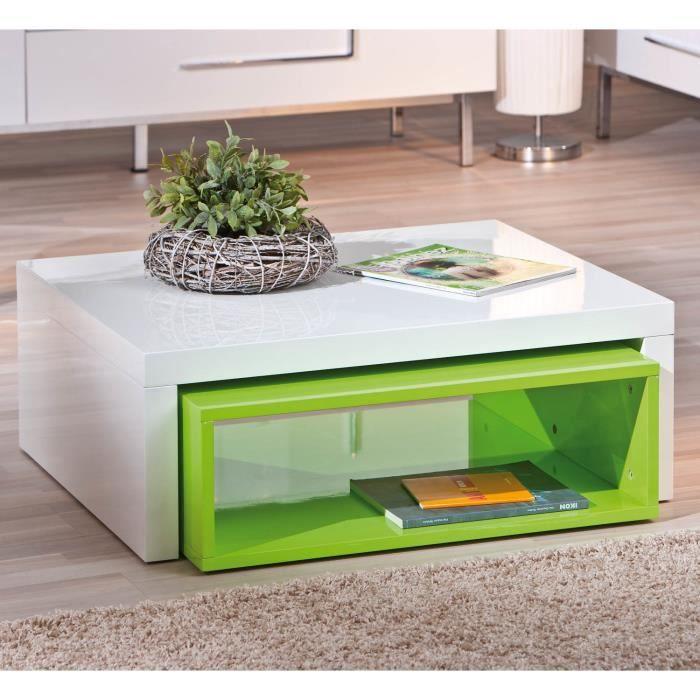 table basse de salon d 39 appoint carr gigogne b achat vente table basse table basse zola. Black Bedroom Furniture Sets. Home Design Ideas