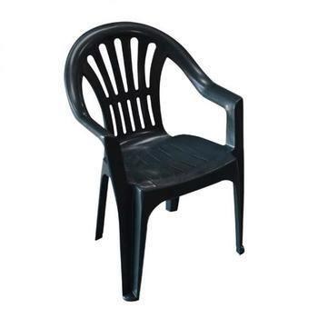 lot 4 chaises en plastique gris elba achat vente. Black Bedroom Furniture Sets. Home Design Ideas