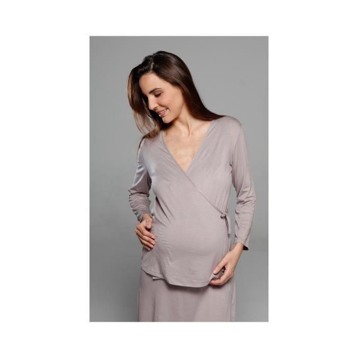 cache coeur pyjamas grossesse et allaitement parme vintage achat vente pyjama chemise de. Black Bedroom Furniture Sets. Home Design Ideas