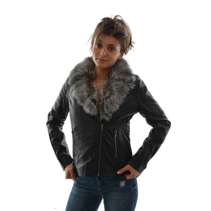 blousons et vestes kaporal 5 paola noir noir achat vente blouson cdiscount. Black Bedroom Furniture Sets. Home Design Ideas