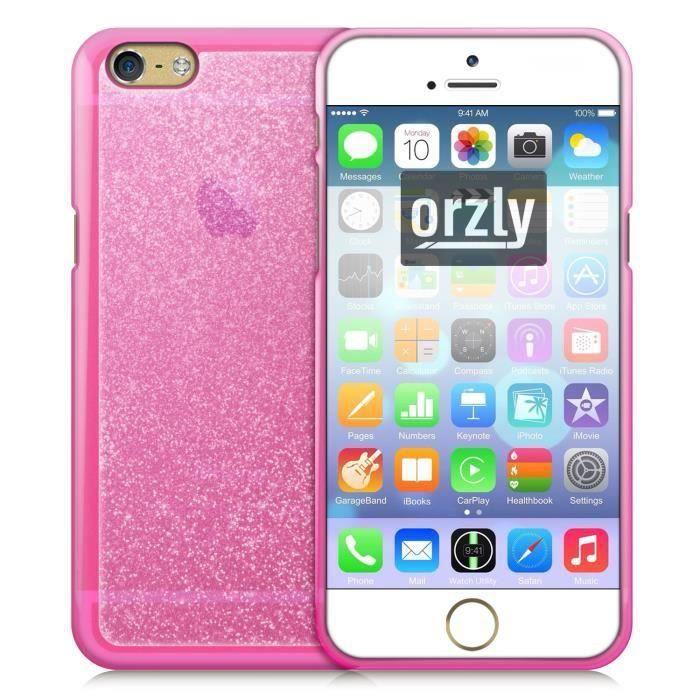 orzly coque soft gel stardust iphone 6s rose achat coque bumper pas cher avis et meilleur. Black Bedroom Furniture Sets. Home Design Ideas
