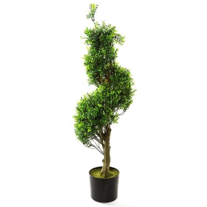 Plante artificielle buis torsade 120cm paris prix for Plante artificielle prix