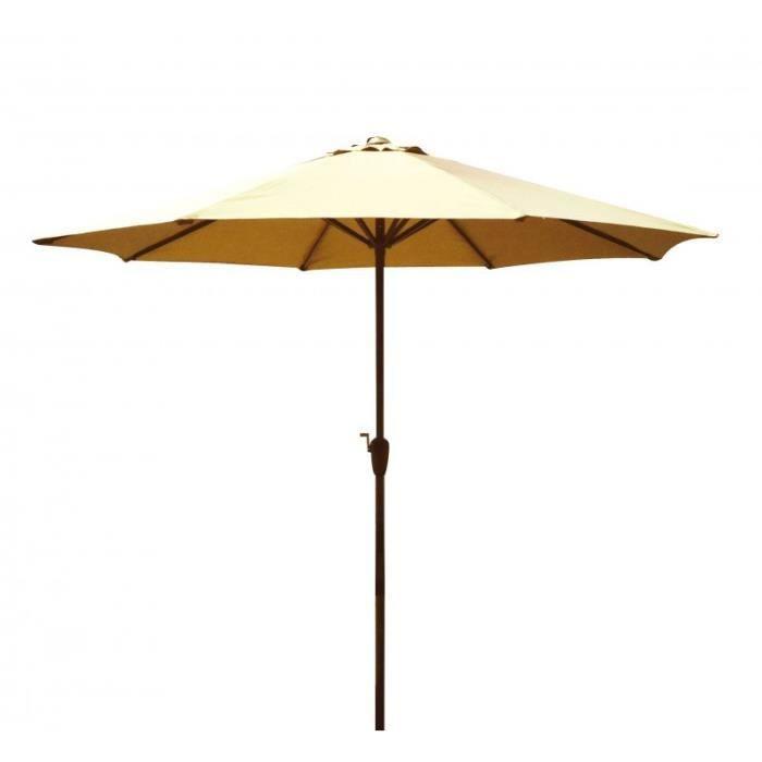 Parasol simple 270cm beige paris prix achat vente parasol ombrage par - Parasol prix discount ...