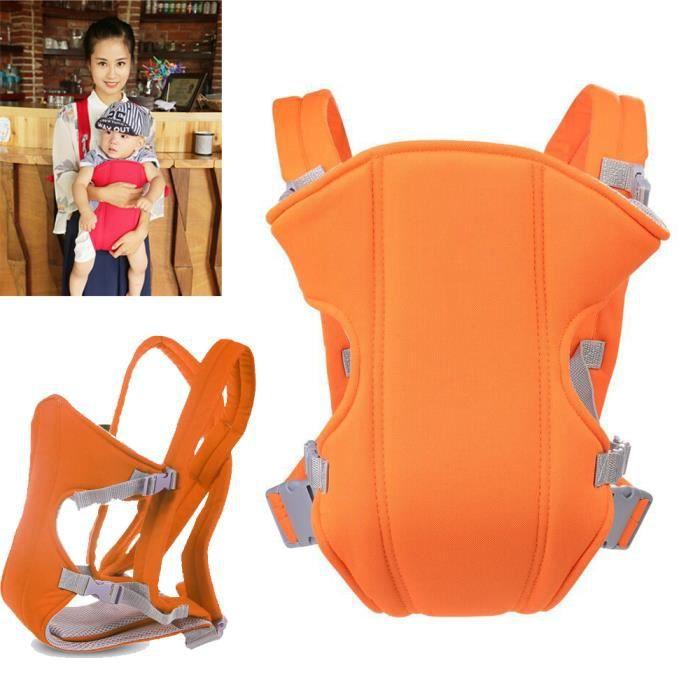 Porte b b ventral dorsal porte b b orange achat vente cape porte b b 2009800640476 - Porte bebe ventral et dorsal ...