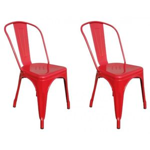 Chaises de cuisine rouge achat vente chaises de for Chaise design rouge salle a manger