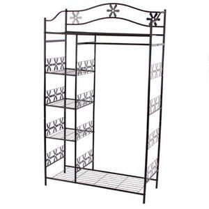 portes manteaux metal avec etageres achat vente portes manteaux metal avec etageres pas cher. Black Bedroom Furniture Sets. Home Design Ideas