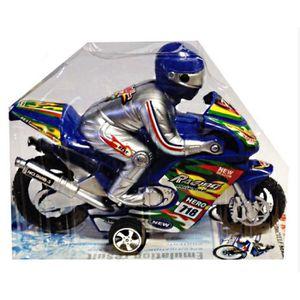 MOTO - SCOOTER MOTO A FRICTION AVEC PILOTE 16 X 12 CM JOUET