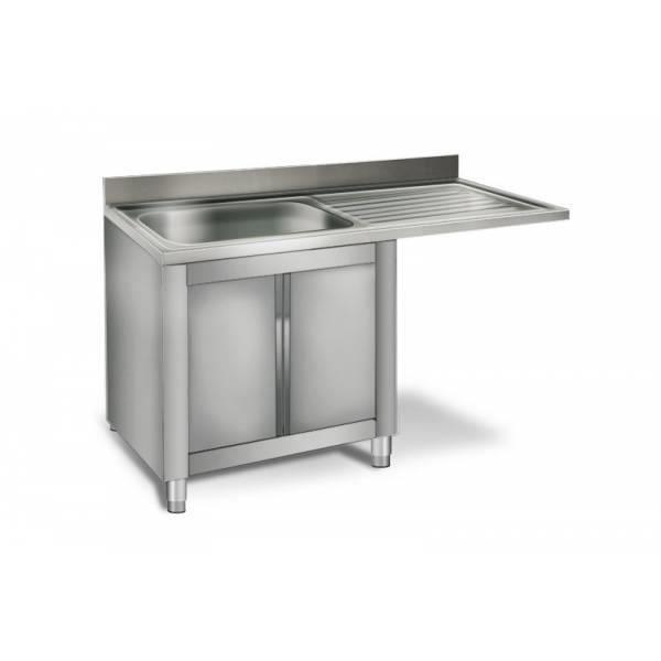 meuble sous vier professionnel pour lave vaisselle 1 cuve gauche 60 x 50 x 30 cm 1 4. Black Bedroom Furniture Sets. Home Design Ideas