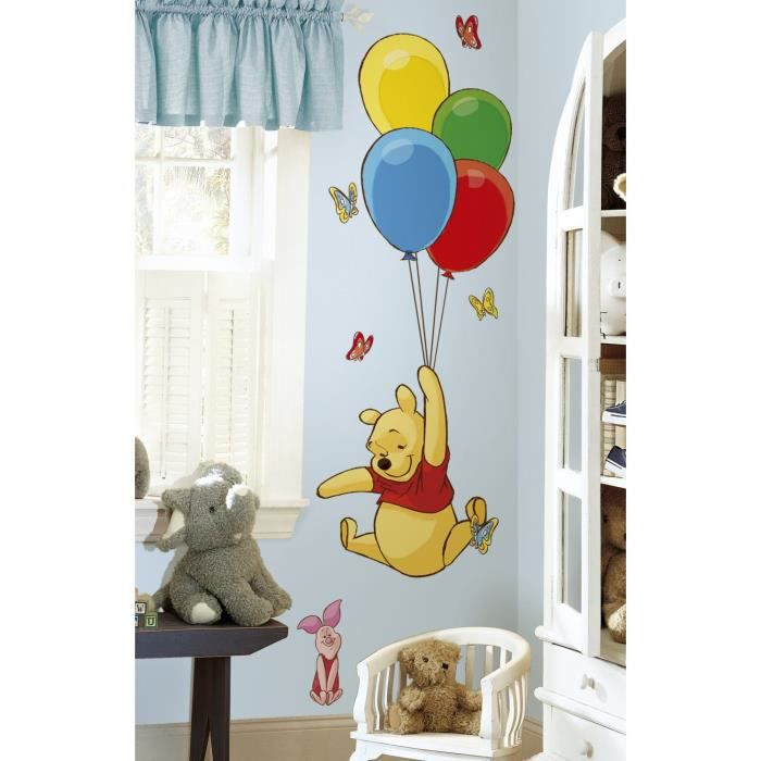 Winnie stickers d coratif chambre enfant b b g ant for Baby bedroom decoration games