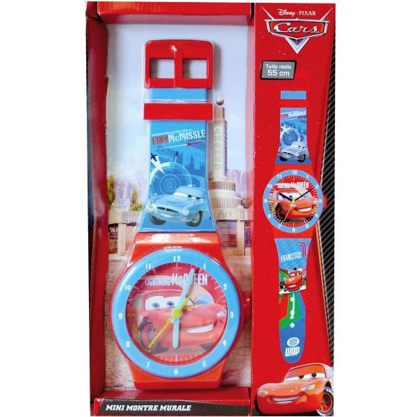 Horloge murale montre cars d coration de ch achat vente horloge cdiscount for Montre decoration