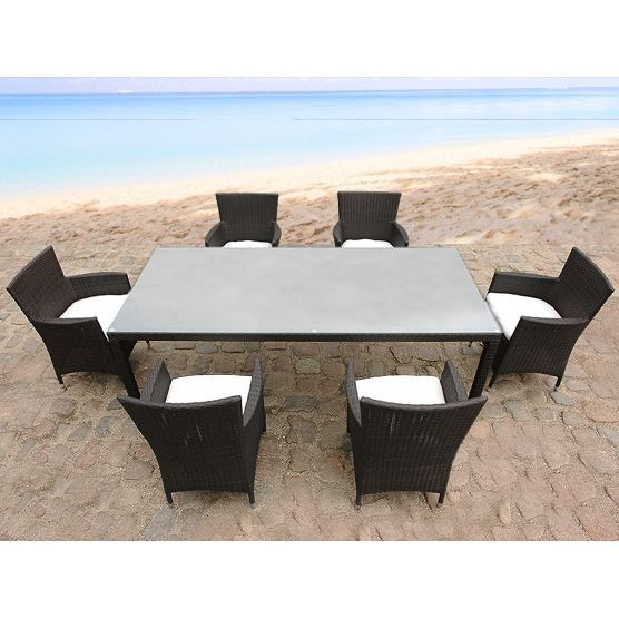 Meuble de Jardin en Rotin Rotin Meuble de Jardin Table