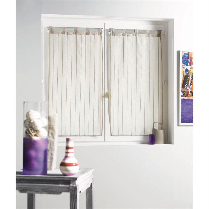 paire droite 60 x 160 cm artiga voile sabl sable achat vente rideau voilage paire droite. Black Bedroom Furniture Sets. Home Design Ideas