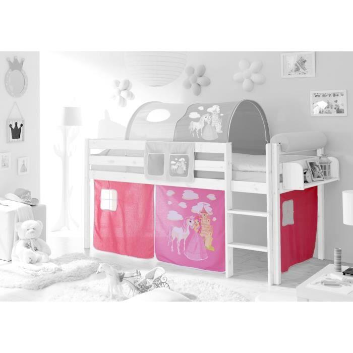 ensemble de 3 rideaux tissus pour lit mezzanine achat vente rideau ensemble de 3 rideaux. Black Bedroom Furniture Sets. Home Design Ideas