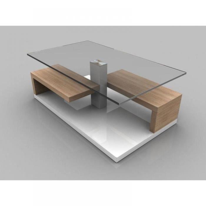 table basse maeva ch ne blanc de sonoma avec ra achat vente table basse table basse maeva. Black Bedroom Furniture Sets. Home Design Ideas