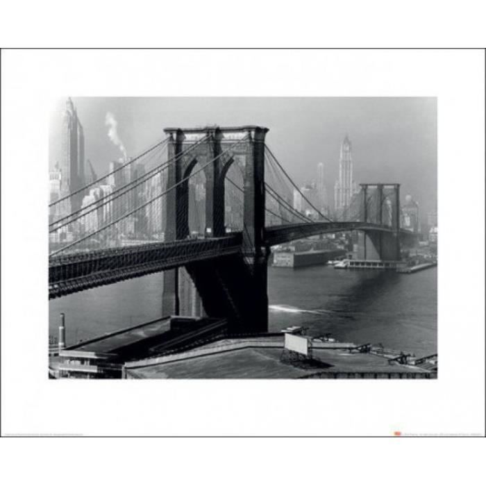 pont de brooklyn poster reproduction new york 1946 life magazine 40 x 50 cm achat vente. Black Bedroom Furniture Sets. Home Design Ideas