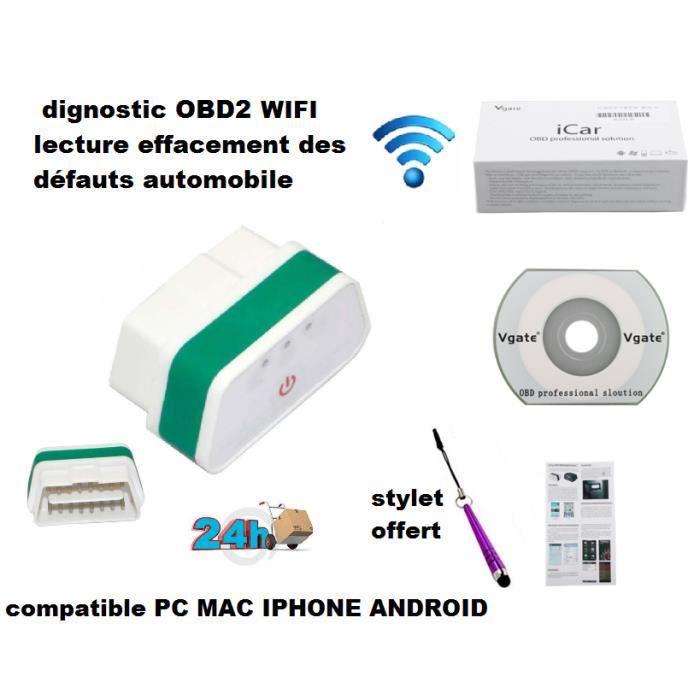 vert valise diagnostic particulier et professionnel voiture obd2 elm327 version wifi vgate icar2. Black Bedroom Furniture Sets. Home Design Ideas