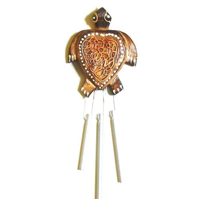 carillon tortue bois metal artisanat mobile achat vente objet d coratif bois m tal cdiscount. Black Bedroom Furniture Sets. Home Design Ideas