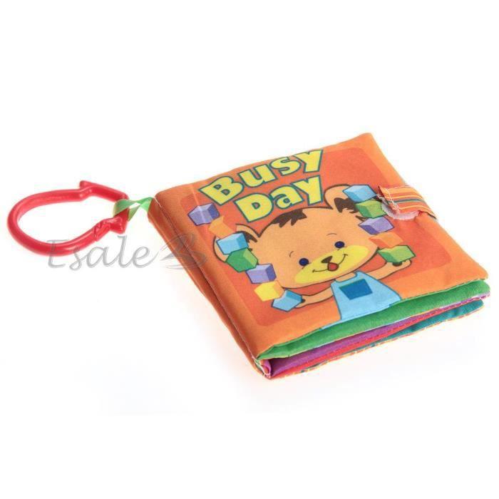 livre tissu dessin color animaux pour b b premier age eveil jouet ducatif achat vente. Black Bedroom Furniture Sets. Home Design Ideas