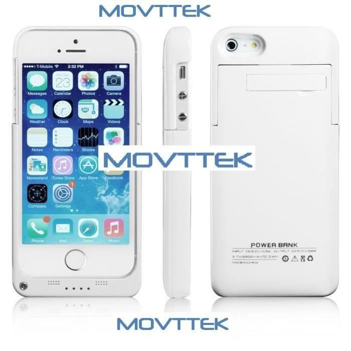 coque tui movttek rechargeable iphone 6 blanc 3200mah. Black Bedroom Furniture Sets. Home Design Ideas