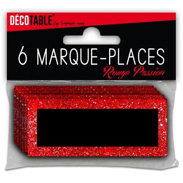 marque place paillete rouge passion achat vente d cors de table cdiscount. Black Bedroom Furniture Sets. Home Design Ideas