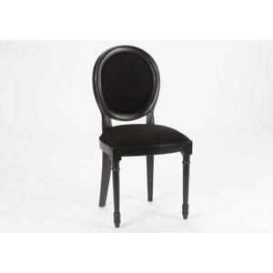 chaise medaillon noire achat vente chaise medaillon noire pas cher cdiscount. Black Bedroom Furniture Sets. Home Design Ideas