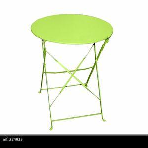 table de jardin pliante ronde achat vente pas cher cdiscount. Black Bedroom Furniture Sets. Home Design Ideas