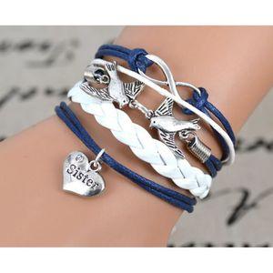 Bracelet sister achat vente pas cher soldes cdiscount - Bracelet couple ancre ...