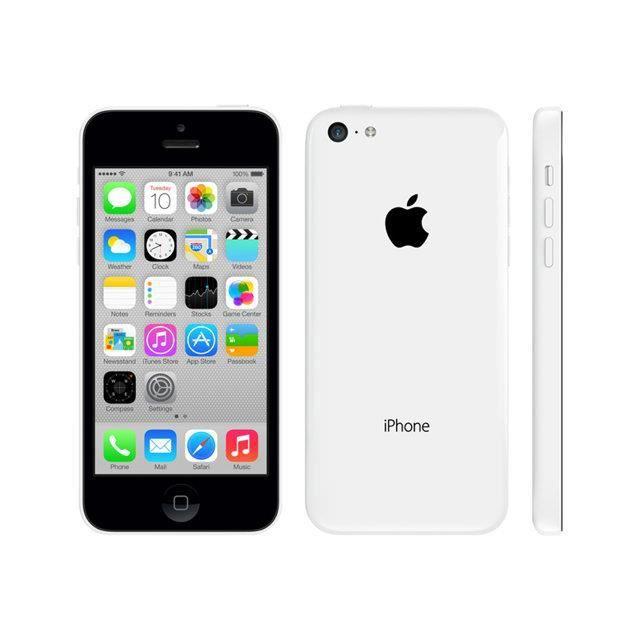 telephonie telephone mobile apple iphone c  go blanc bloque sfr f app