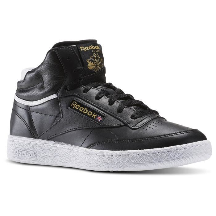 reebok baskets club c 85 mid cuir chaussures homme homme. Black Bedroom Furniture Sets. Home Design Ideas