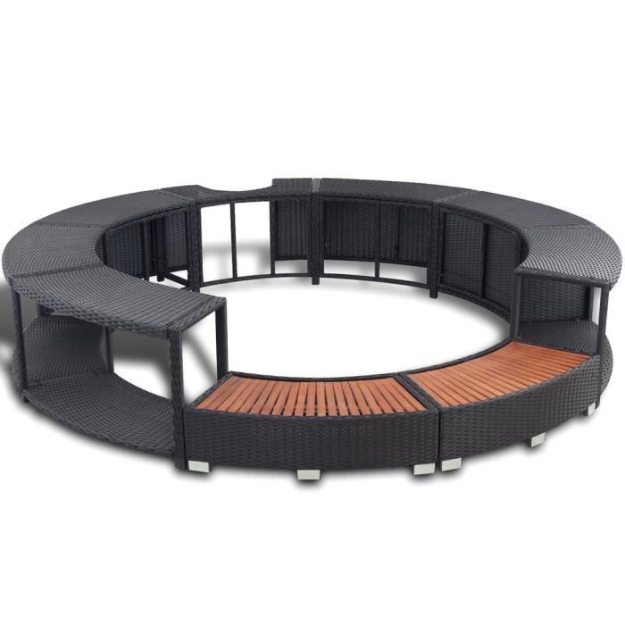 contour de spa en polyrotin noir achat vente projecteur lampe contour de spa en cdiscount. Black Bedroom Furniture Sets. Home Design Ideas
