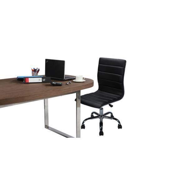 Chaise de bureau easy noire lot de 2 achat vente chaise cuir cdiscount - Meilleure chaise de bureau ...