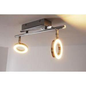 luminaire lustre lampe 2 spots sur rail lustre led achat vente luminaire lustre lampe 2 sp. Black Bedroom Furniture Sets. Home Design Ideas