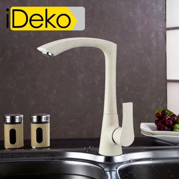 Ideko robinet mitigeur d vier de cuisine rotatif design - Mitigeur cuisine laiton ...