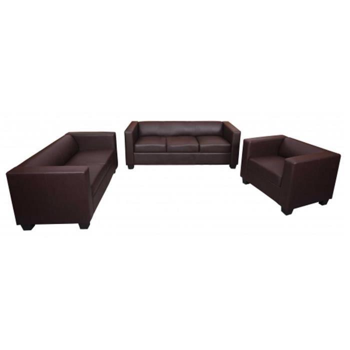 ensemble canap de salon en pu canap de 3 pla achat vente canap sofa divan pu. Black Bedroom Furniture Sets. Home Design Ideas