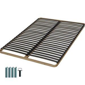 cadre de lit 120x200 achat vente cadre de lit 120x200 pas cher cdiscount. Black Bedroom Furniture Sets. Home Design Ideas