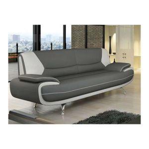 canape blanc et gris simili cuir achat vente canape blanc et gris simili cuir pas cher. Black Bedroom Furniture Sets. Home Design Ideas
