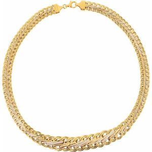 collier femme or 18 carats