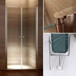porte de douche battante achat vente porte de douche battante pas cher cdiscount. Black Bedroom Furniture Sets. Home Design Ideas