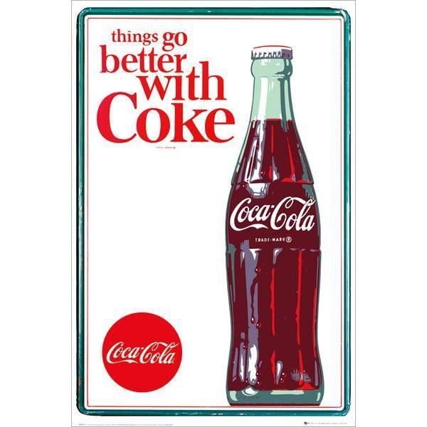 affiche coca cola things go better achat vente affiche les soldes sur cdiscount cdiscount. Black Bedroom Furniture Sets. Home Design Ideas