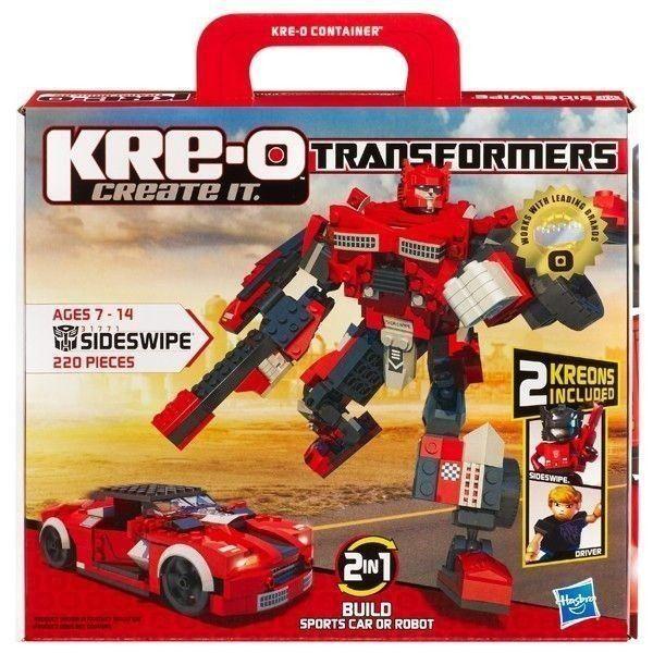 Hasbro Kreo Sideswipe peut être construit en voiture de course ou
