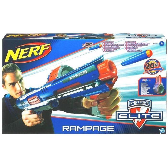 PISTOLET BILLE MOUSSE NERF Elite Pistolet Rampage