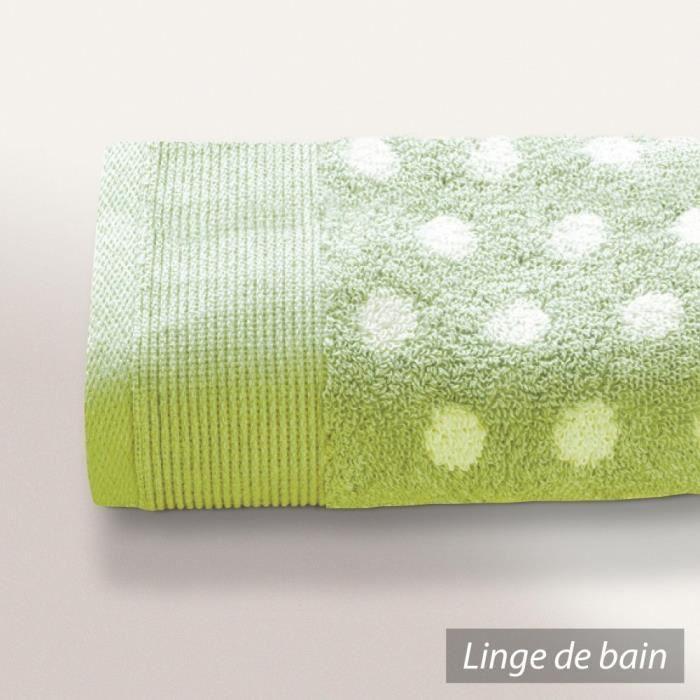 drap de douche 70x140 cm domino vert 550 g m2 achat vente serviettes de bain cdiscount. Black Bedroom Furniture Sets. Home Design Ideas