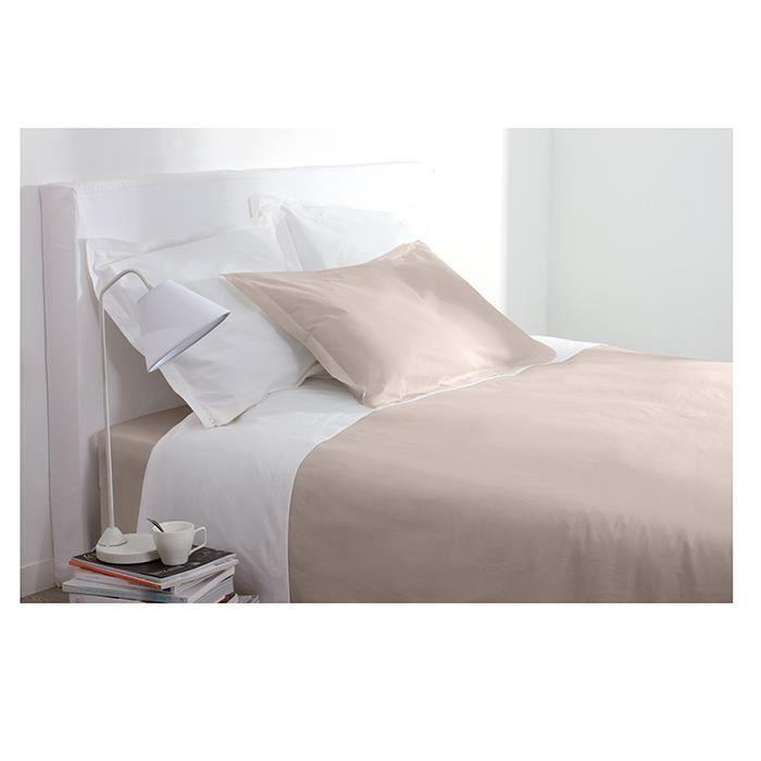 drap plat 2 personnes 240x290 cm 100 coton lin cru achat vente drap plat cdiscount. Black Bedroom Furniture Sets. Home Design Ideas