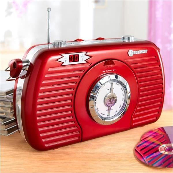radio r tro portable lecteur cd radio cd cassette avis et prix pas cher soldes d t cdiscount. Black Bedroom Furniture Sets. Home Design Ideas