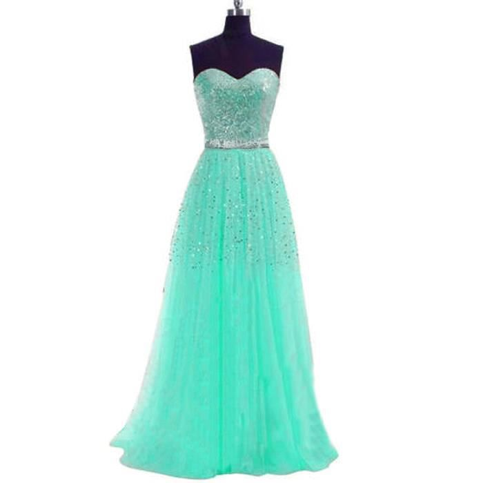 longue robe paillettes bretelles robe de soir vert. Black Bedroom Furniture Sets. Home Design Ideas